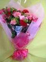 お母さんに贈るピンク&レッドの花束