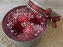おしゃれな缶入り プリアレンジ ピンクレッド
