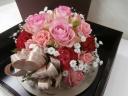 ピンクのバラのBOXフラワー