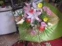 ピンクユリのボリューム花束