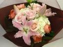 スイートピンク花束