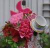 小鳥とコーヒーカップでラブリーなお母さんに