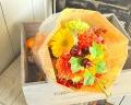母の日にカーネーションの花束(オレンジ系)生花