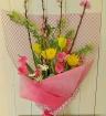 桃の花・花束