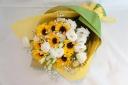 元気いっぱいひまわり花束