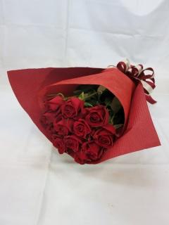 赤いバラの花束?愛情?