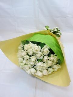 白いバラの花束?私はあなたにふさわしい?