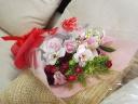 【ジャストサイズ!ピンクレッドの花束♪】