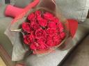 【赤バラの花束】