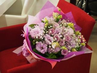【パープルローズの花束】