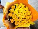 【黄色いバラの花束】
