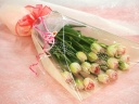 【ふんわり優しいチューリップの花束】