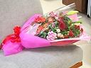 【ピンクレッドの花束】